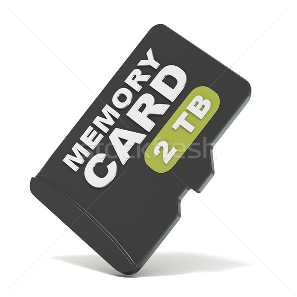 Memoria tarjeta frente vista 3D 3d Foto stock © djmilic