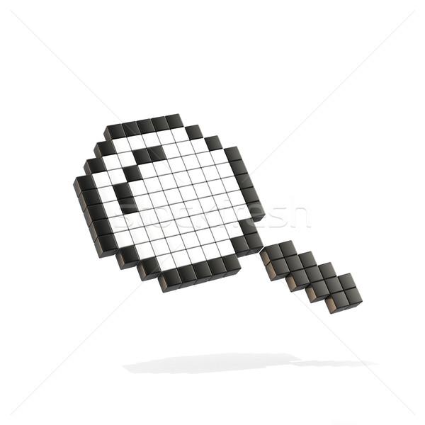 Lupa lupa mouse cursor 3D 3d render Foto stock © djmilic