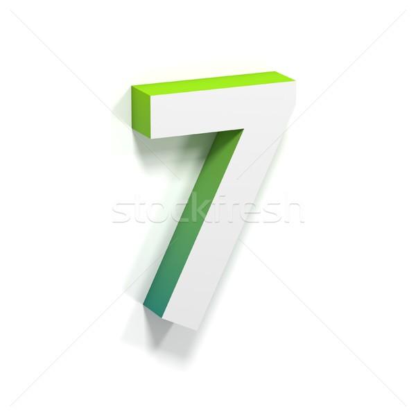 зеленый градиент мягкой тень числа семь Сток-фото © djmilic