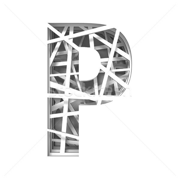 Papír kivágás betűtípus p betű 3D 3d render illusztráció Stock fotó © djmilic