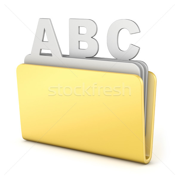 Computer folder with ABC files 3D Stock photo © djmilic