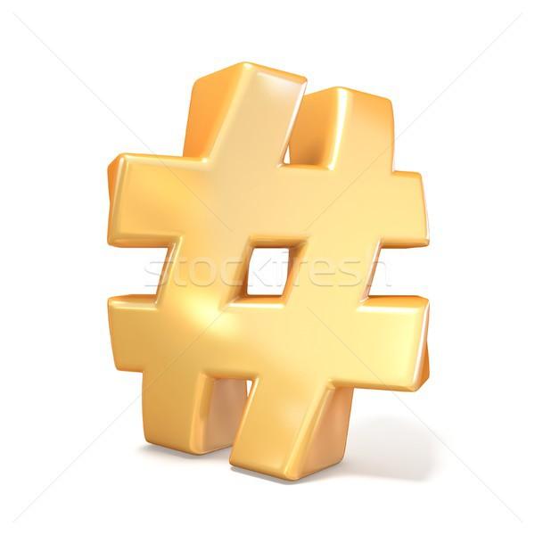 оранжевый шрифт знак 3D 3d визуализации иллюстрация Сток-фото © djmilic