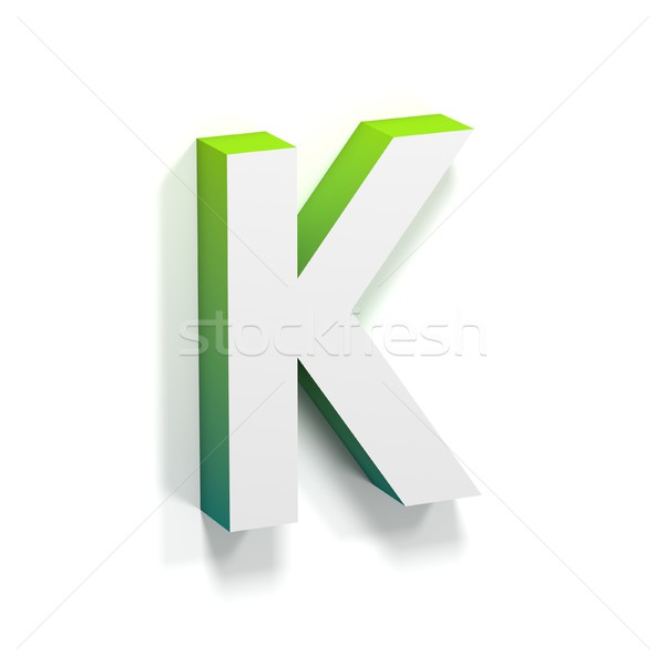 Green gradient and soft shadow letter K Stock photo © djmilic