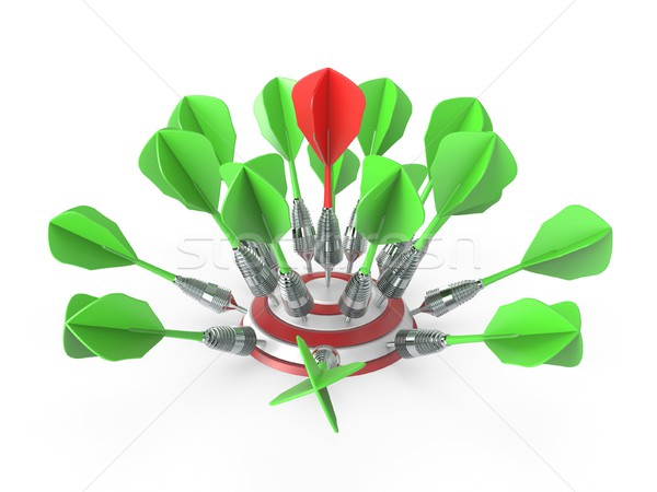 Fléchettes cible 3D rendu 3d illustration isolé Photo stock © djmilic
