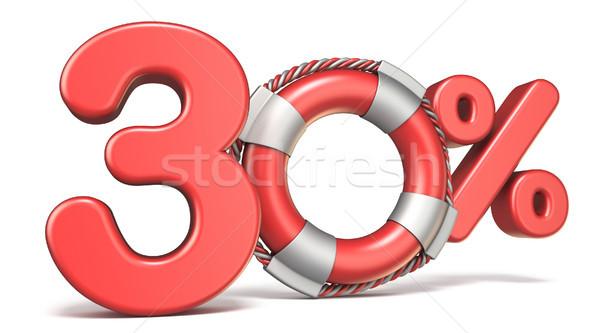 Life buoy 30 percent sign 3D Stock photo © djmilic