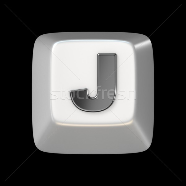 Computer keyboard key FONT. Letter J 3D Stock photo © djmilic