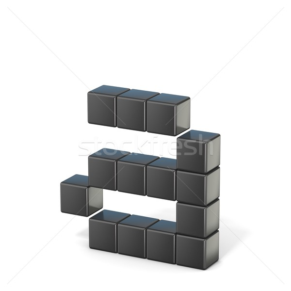 8 bit font. Lowercase letter A. 3D Stock photo © djmilic