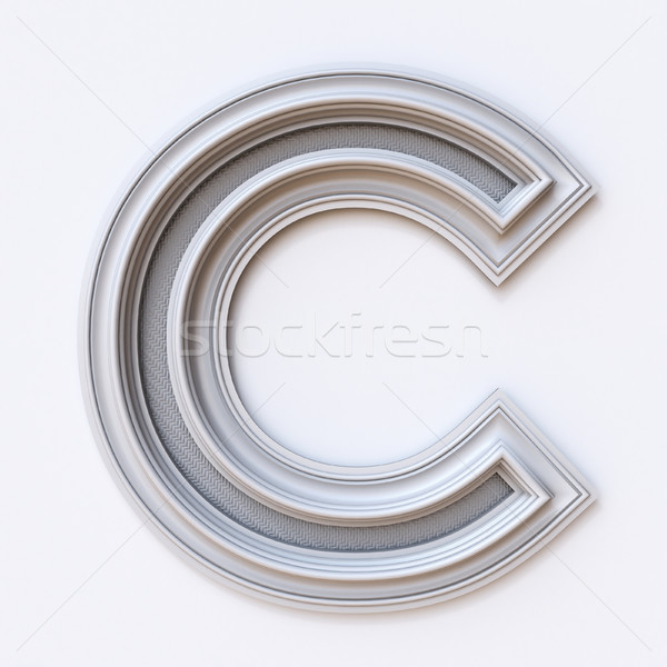 White picture frame font Letter C 3D Stock photo © djmilic