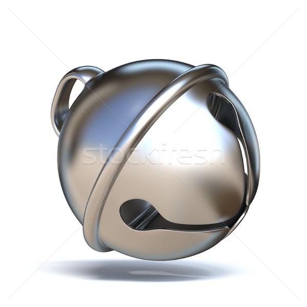 Ezüst szánkó harang 3D 3d render illusztráció Stock fotó © djmilic