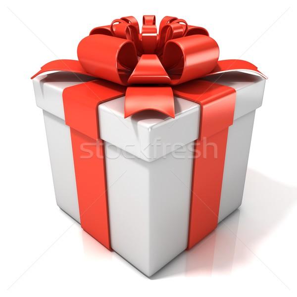 White gift box Stock photo © djmilic