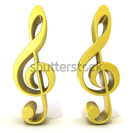 Golden treble clef Stock photo © djmilic