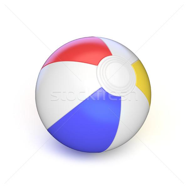 ビーチボール 3D 3dのレンダリング 実例 孤立した 白 ストックフォト © djmilic