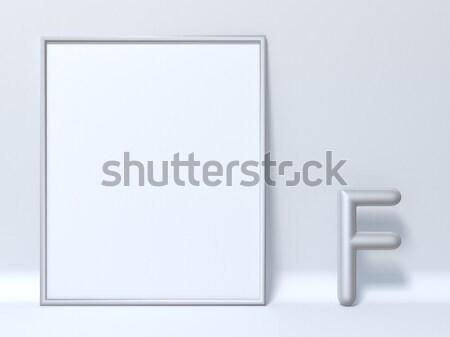 Chute ombre police lettre h 3D rendu 3d Photo stock © djmilic
