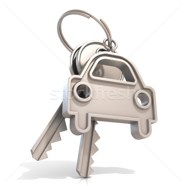Araba anahtarları yalıtılmış beyaz Metal güvenlik anahtar Stok fotoğraf © djmilic