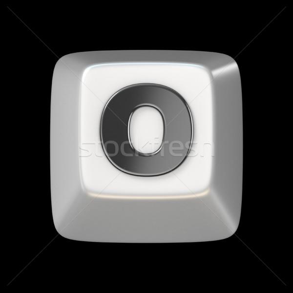Számítógép billentyűzet kulcs betűtípus o betű 3D 3d render Stock fotó © djmilic