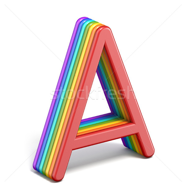 Rainbow police lettre 3D illustration Photo stock © djmilic