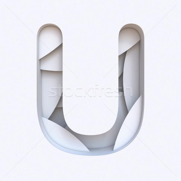 Blanco resumen capas fuente carta 3D Foto stock © djmilic