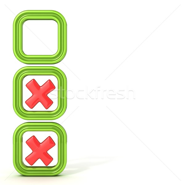 Check boxes with incorrect check mark Stock photo © djmilic