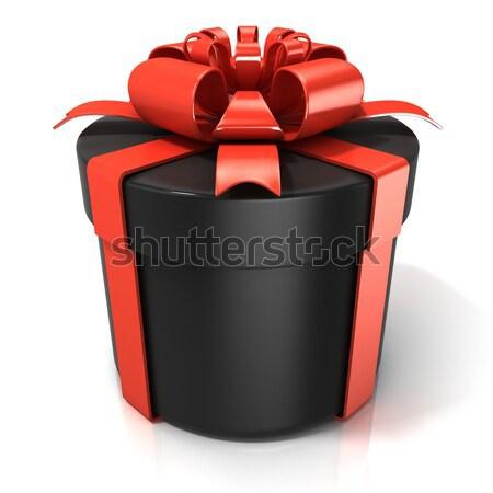 Nero cilindro scatola regalo isolato bianco Pasqua Foto d'archivio © djmilic