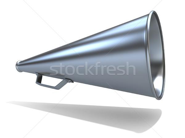 Stockfoto: Retro · oude · stijl · megafoon · geïsoleerd · witte