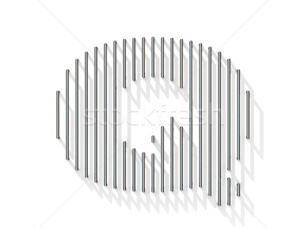 Silver, steel wire font. Letter Q Stock photo © djmilic