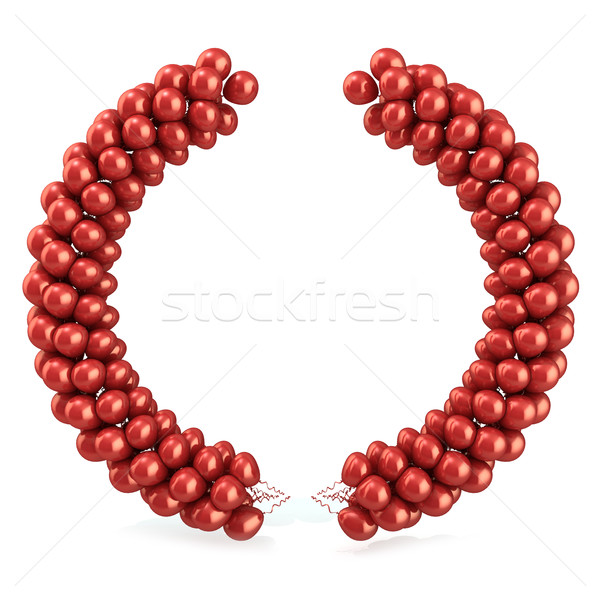 Red balloons arc laurel Stock photo © djmilic