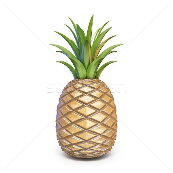 Pineapple 3D rendering illustration on white background Stock photo © djmilic