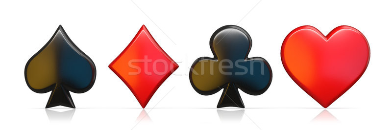 Spade, heart, diamond and club sign 3D Stock photo © djmilic