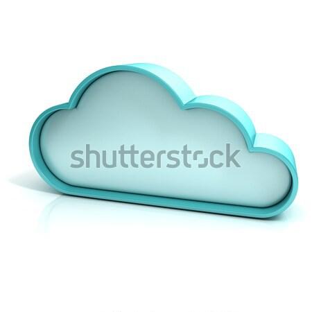 Nuvem 3D ícone do computador isolado escritório internet Foto stock © djmilic