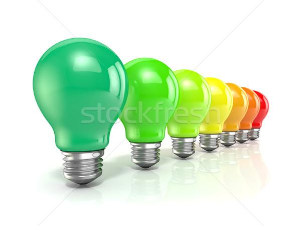La eficiencia energética bombillas 3D 3d ilustración aislado Foto stock © djmilic