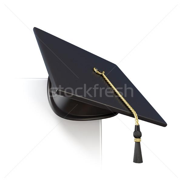 Graduação boné conselho canto 3D 3d render Foto stock © djmilic