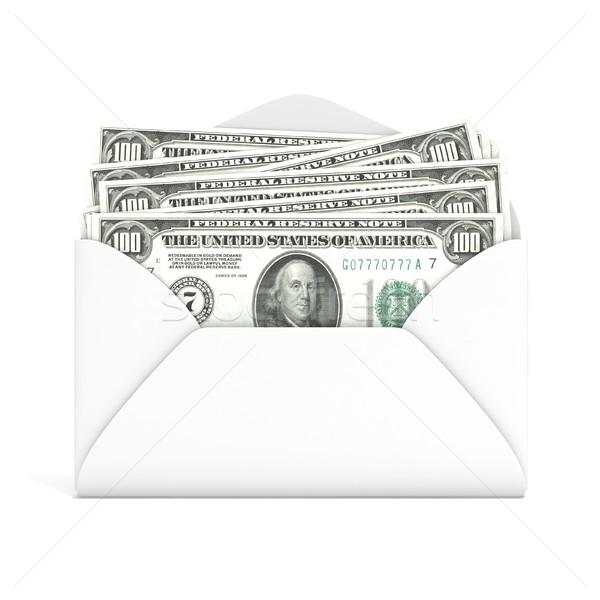 Dollár boríték elöl kilátás 3D 3d render Stock fotó © djmilic