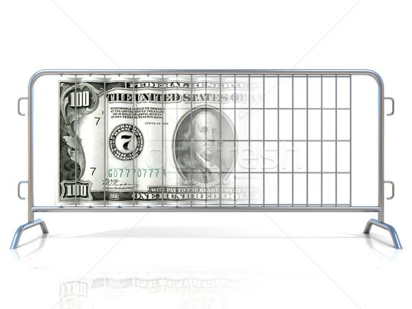 Aço dólar isolado branco construção rua Foto stock © djmilic