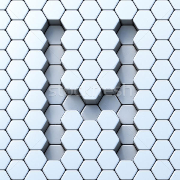 Hexagonal grid letter H 3D Stock photo © djmilic