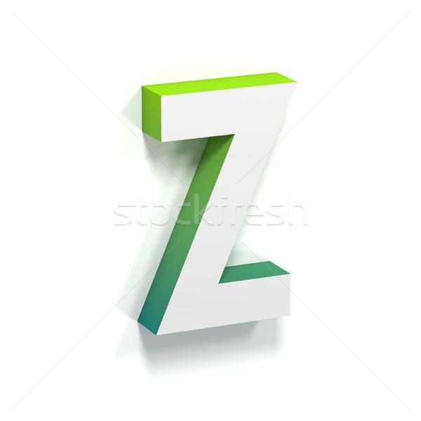зеленый градиент мягкой тень письмо z шрифт Сток-фото © djmilic