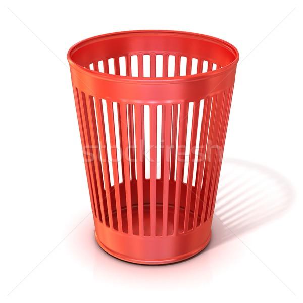 пусто красный мусор мусорный ящик изолированный Сток-фото © djmilic