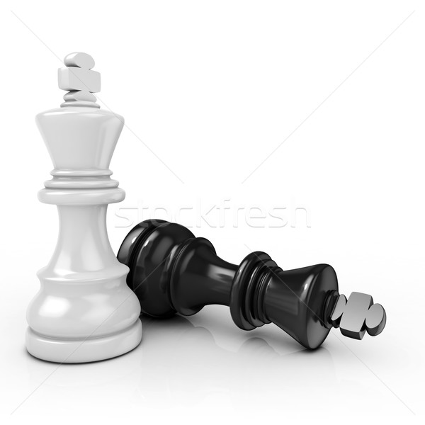 White king chess mate Stock photo © djmilic