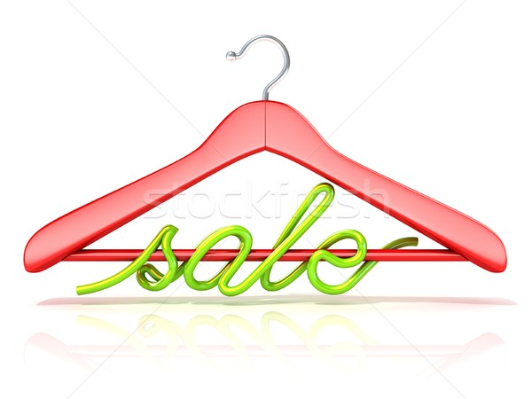 Rosso vestiti verde vendita segno 3D Foto d'archivio © djmilic