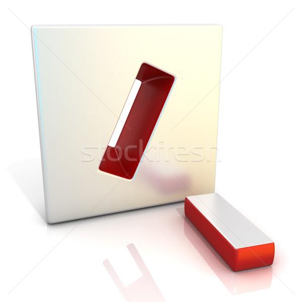 Divide sign. 3D Stock photo © djmilic