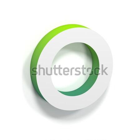 Zöld gradiens puha árnyék o betű betűtípus Stock fotó © djmilic