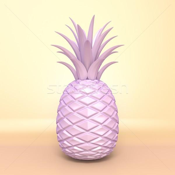 Pembe ananas 3d render örnek eğim turuncu Stok fotoğraf © djmilic