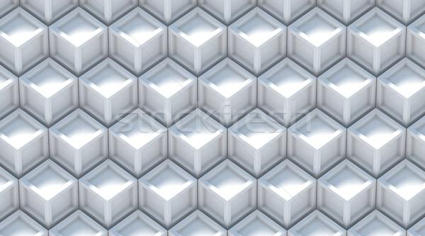Fehér szürke absztrakt 3D 3d render puha Stock fotó © djmilic