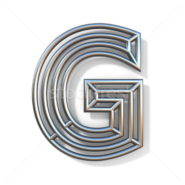 Wire outline font letter G 3D Stock photo © djmilic