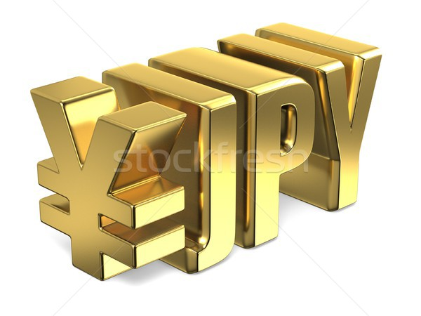 Japanese yen JPY golden currency sign 3D Stock photo © djmilic
