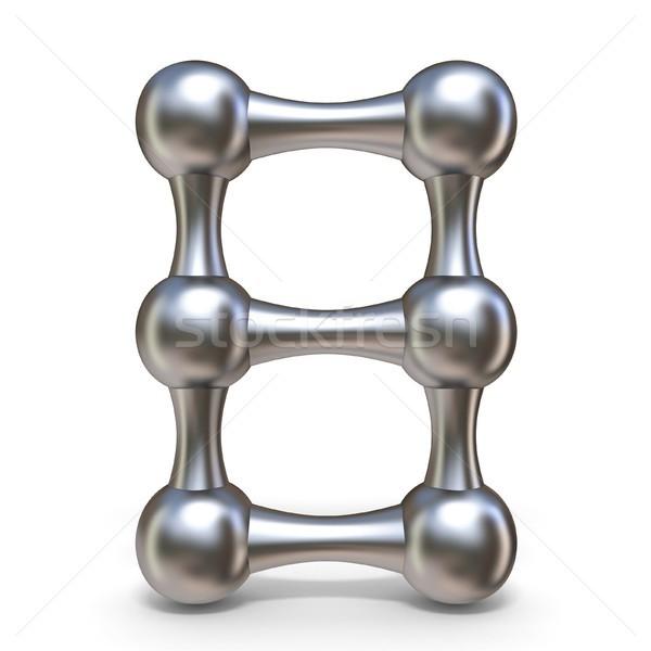 Staal moleculair doopvont aantal acht 3D Stockfoto © djmilic