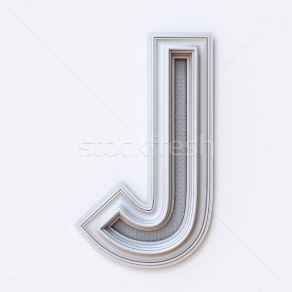 White picture frame font Letter J 3D Stock photo © djmilic