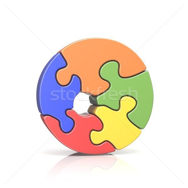 Puzzle numero pari a zero 3D rendering 3d Foto d'archivio © djmilic