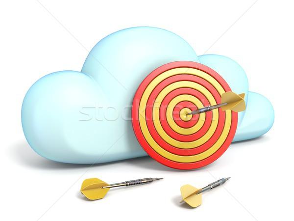 Stok fotoğraf: Bulut · simgesi · hedef · 3D · yalıtılmış