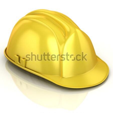 Stock photo: Yellow safety helmet