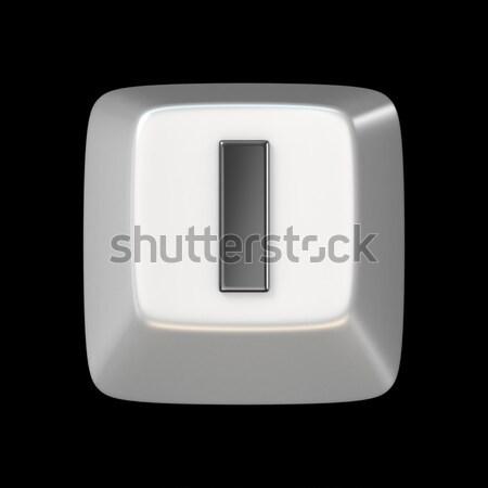 Számítógép billentyűzet kulcs betűtípus i betű 3D 3d render Stock fotó © djmilic